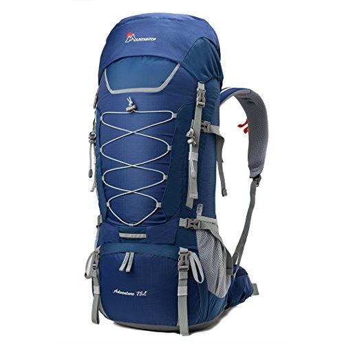 MOUNTAINTOP 75L Sac a Dos randonnée/Etanche Sac Alpinisme avec Couverture de Pluie pour Le Camping et Trekking Voyage 85 x 33 x 26 cm