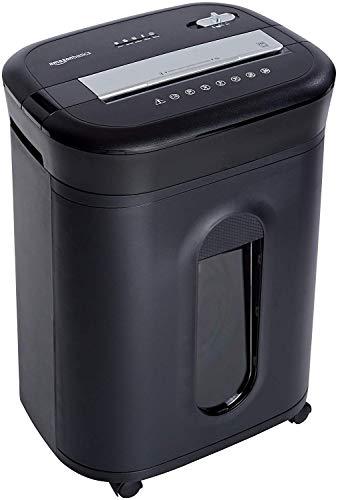 AmazonBasics - Trituradora de corte cruzado para tarjetas de crédito, CD y papel, para 15 hojas