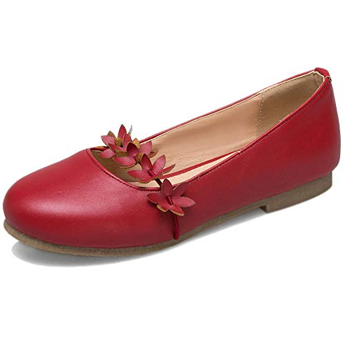 Garggi Mary Jane Zapatos Flats Mujer Punta Redonda Ballet Fl