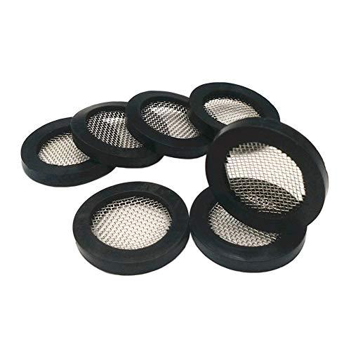 Arandelas de goma para manguera de ducha, con filtro de cabezal de ducha de acero inoxidable 304, manguera de válvula de ducha, pieza de repuesto para lavadora y grifo de agua (color: 50)