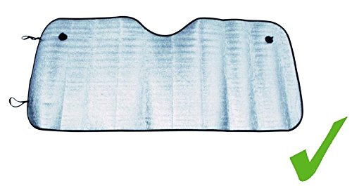 Car Face UNIVERSALE Auto FRONTSCHEIBE Abdeckung Alu Sonnenschutz Sonnenblende Frontscheibenabdeckung 130 x 60 cm