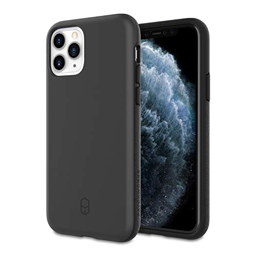 PATCHWORKS Ultra Slim Fit Thin Shockproof Hard Back Non Slip Stylish Matte Protective Phone Case [Military Grade Drop Test] Designed for Apple iPhone 11 Pro 4G Case 5.8 inch (2019) - Black