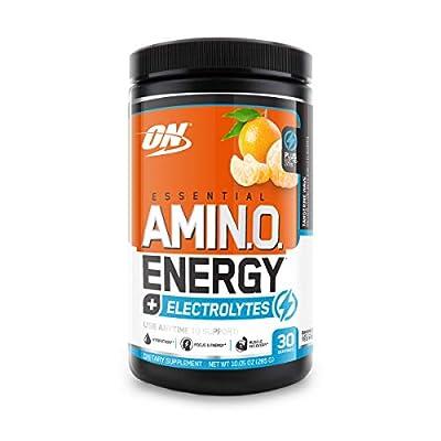 Optimum Nutrition Essential Amino Energy + Electrolytes, Tangerine Wave, Keto Friendly BCAAs, Preworkout and Essential Amino Acids, 30 Servings