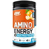 Optimum Nutrition Amino Energy + Electrolytes - Pre Workout, BCAAs, Amino Acids, Keto Friendly, Energy Powder - Tangerine Wave, 30 Servings