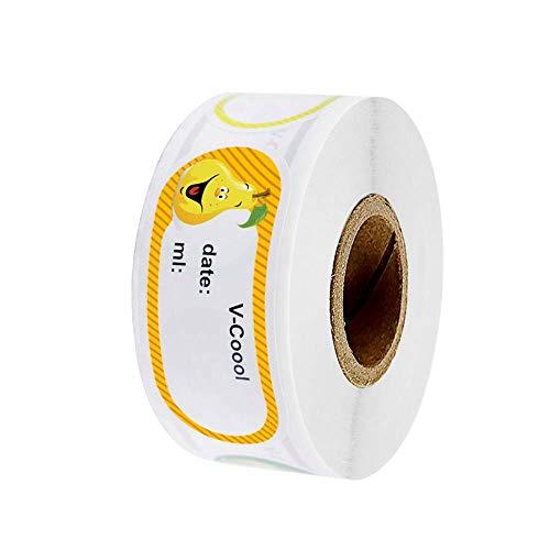 BJ-SHOP Etiquetas para tarros Etiquetas de Fecha 250 Etiquetas Frigoríficas con Fecha para Escribir en 25x50 mm