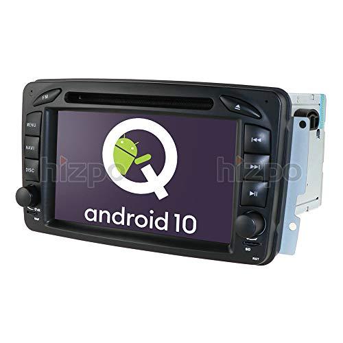 Android 10 Coche GPS DVD USB SD Bluetooth Coche Radio 2 DIN NAVI para Mercedes-Benz A-W168 C-W203 Viano G-W463 Vito Vaneo Clk-C209 / W209