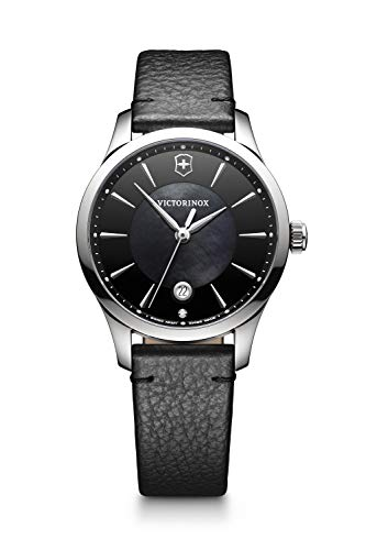 Victorinox Damen Analog Quarz Uhr mit Leder Armband 241754