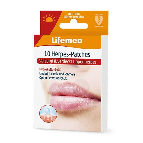 Lifemed - 10 Herpes-Patches transparent - lindert Juckreiz & Schmerz, 1er Pack