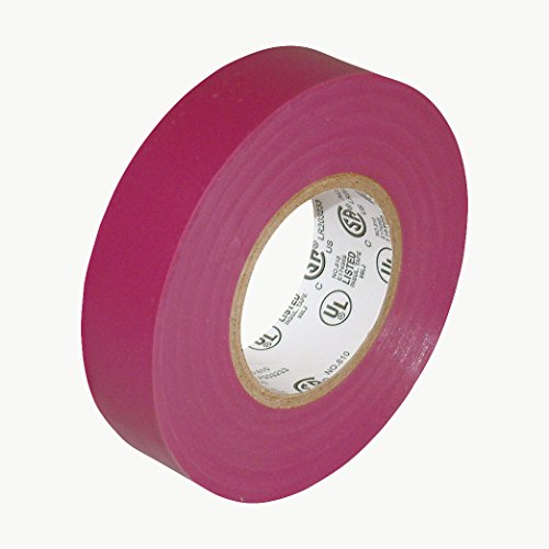 JVCC E-Tape Colored Electrical Tape: 3/4 in. x 66 ft. (Purple)
