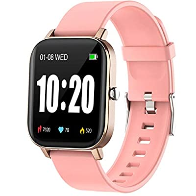 "PUBU Smart Watch, Fitness Tracker with Heart Rate Monitor, Activity Tracker with 1.3"" Touch Screen, Smartwatch with Sleep Monitor, Step Counter for Women and Men"