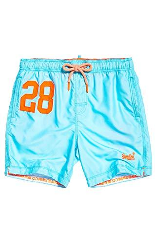 Superdry Herren Water Polo Swim Shorts, Blau (Light Lagoon Blue Q2r), Large (Herstellergröße: L)