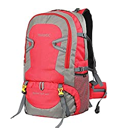 TRAWOC 55 LTR Travel Backpack for Outdoor Sport Camping Hiking Trekking Bag Rucksack, Red,TRAWOC