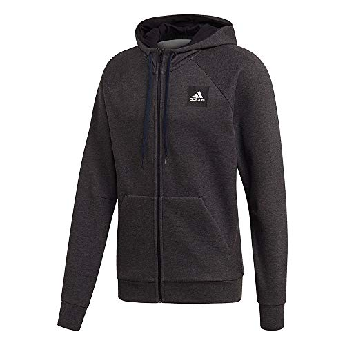 adidas Herren Sweatshirt MHE FZ STA, Blckme, L, FL3999