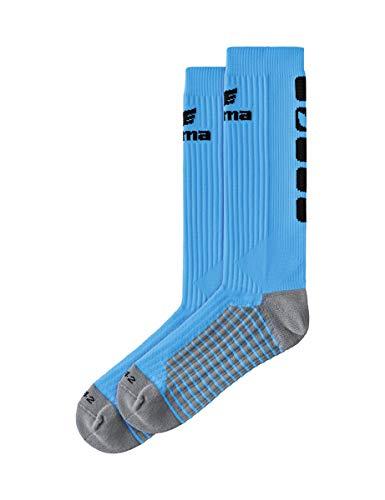 Erima 2181930 Chaussettes de sport longues Mixte Adulte - Multicolore (gris/bleu) - 39-42