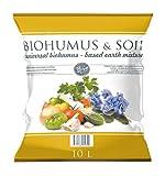 BOIHUMUS & SOIL Biohumus - Terriccio universale per interni, balcone, terra per fiori liberi   terra per erbe aromatiche   Pacchetto da 10 l