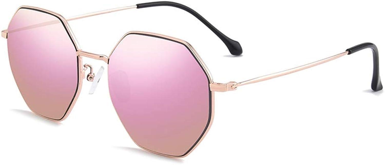 Sunglasses Male Female Radiation Retro Polygon Ink Lens Polarized UV Predection (color   A)