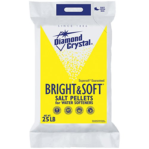 Diamond Crystal Bright and Soft Water Softener Salt Pellets 25 Pound Bag