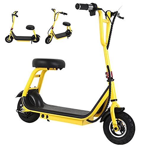 Scooters eléctricos para niños de 5 a 12 años,eléctricos con asiento plegable y ligero Scooter eléctrico con velocidad máxima a 15 km/h rango de crucero es de 15 km, regalos para niños