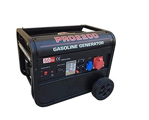 GrecoShop Gruppo elettrogeno/Generatore di Corrente 2500W - 220/380V con Ruote (cod.:3417)