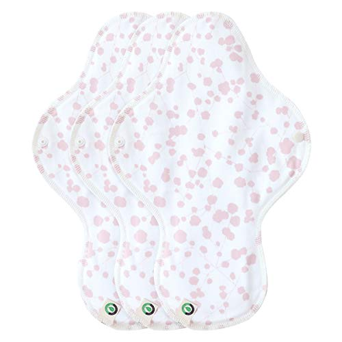 Product Image of the think ECO FDA Registered [Printed Wing Type Pad 3p] Organic Reusable Cotton...