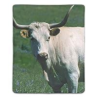 マウスパットー滑り止め加工処理 ファッション 白い牛