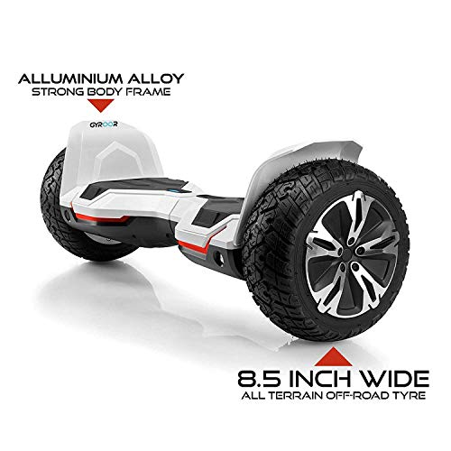 Tygatec Gyroor G281 All Terrain Off Road Hoverboard with Music Speakers and LED Lights, UL2272 Certified Self Balancing Hoverboard, 8.5 inch