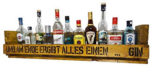 XL'Gin Regal' SHaBBY ViNTaGe PaLeTTeNReGaL (HxLxT: 23x1oox12,5cm) im Frachtkisten Style aus Echtholz Gin Rum Whisky Wein Regal Wandbar. personalisierbar
