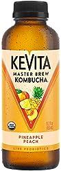 KeVita Master Brew Kombucha, Pineapple Peach, with Live Probiotics, 15.2 oz.