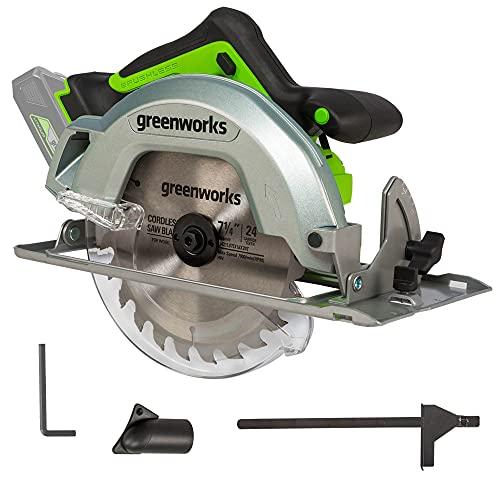 Greenworks 24V Brushless 7 - 1/4-inch Circular Saw Only $59.99 (Retail $119.99)