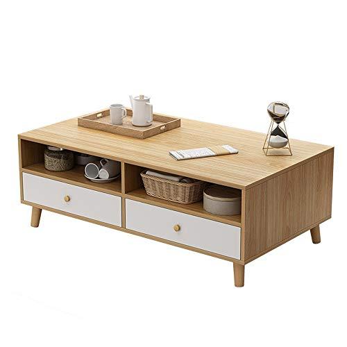 Mesa de estar mesa de café Sofá mesas laterales Cóctel Espacio Ahorro Organizador Tablas de Café con almacenamiento Mesa de centro de madera Se puede utilizar para poner revistas de snack de taza de t