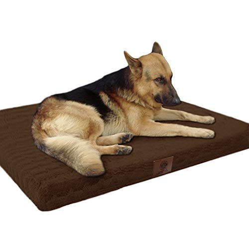 American Kennel Club Orthopedic Crate Mat, 42 by 27-Inch, Brown