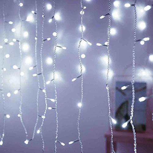 GLXQIJ LED-Fenster-Vorhang Lichter, Lichterketten, 8 Modi Eiszapfen Lichterketten, Für Outdoor-Partei-Hochzeit...