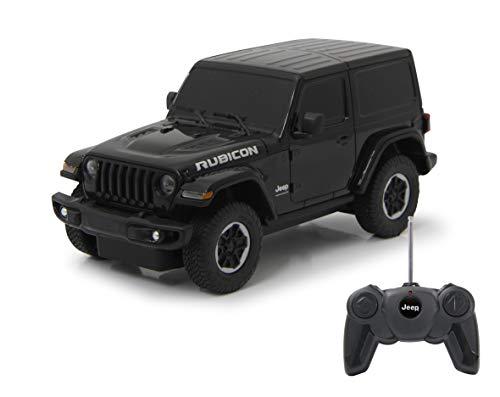 JAMARA Jeep Wrangler JL 405196 - Coche de Juguete (Escala 1:24, 27 MHz, Licencia Oficial, Aprox. 1 Hora de Tiempo de conducción a 9 km/h, Detalles Perfectamente imitados, Acabado
