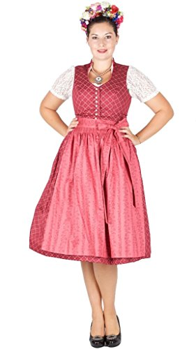 Country-Line 15796 70er Dirndl weinrot Brombeere Size 40