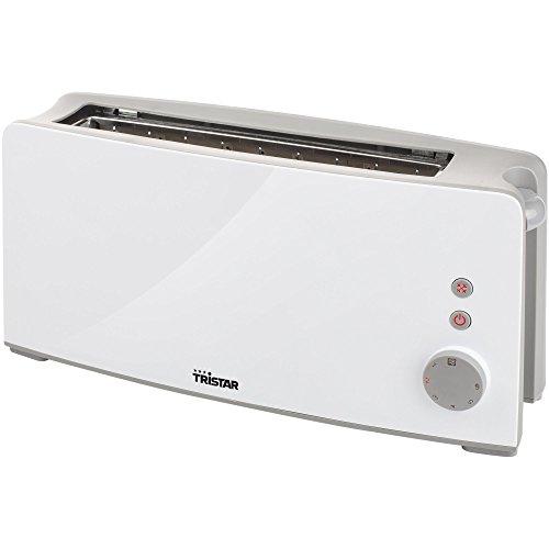 Tristar BR-1024 Tostadora con ranura larga, 6 niveles de tostado, bandeja recogemigas, función de descongelar, calentar y cancelar, autocentrado, expulsión automática, 1000 W