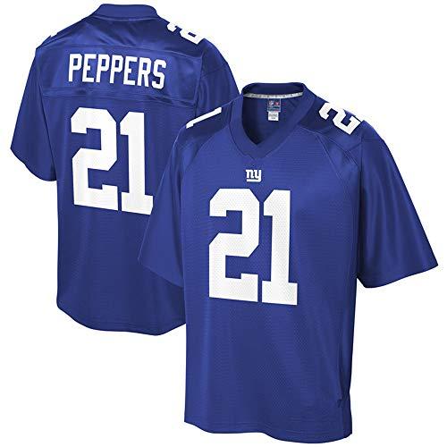 HYQ NFL de fútbol Americano Jersey, Nueva York Giants 26# 10BARKLEY, Bordado Edición Jersey, Uniformes de los Hombres Respirables Top,Blue 21#,L=44