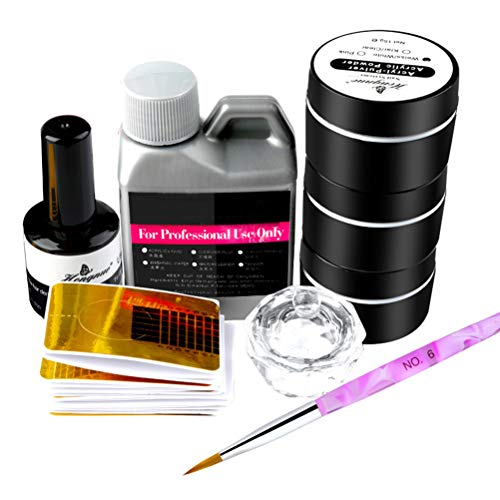 Professionelles Nagelkunst-Set für Acrylflüssigkeit, Puder, Pinsel, Stift, Werkzeug-Set