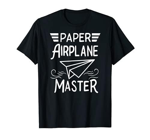 Avión de papel Origami para niños Aviación Maestro Camiseta