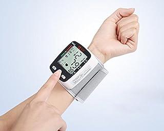 HINEW Recargable monitor de presión arterial de muñeca (Totalmente medir automáticamente para la presión arterial y el latido del corazón)