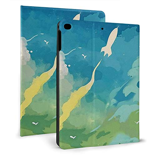 Case Ipad 9.7 Inch 2017/2018 (Mini4/5) - Soft Leather Stand Folio Case Cover For Ipad 7.9 Inch, With Multiple Viewing Angles, Auto Sleep/Wake, United Kingdom Ocean Sea Sunset Clouds Landscape