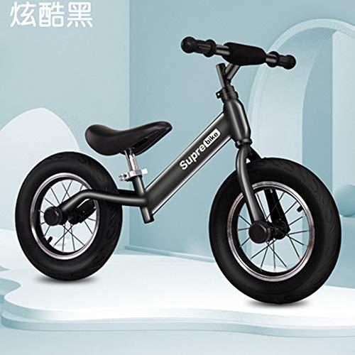 Feiteng Las Bicicletas para niños, Bicicletas de Equilibrio de Madera, Scooters, Motos sin Pedales, Bicicletas correderas de inercia,Negro
