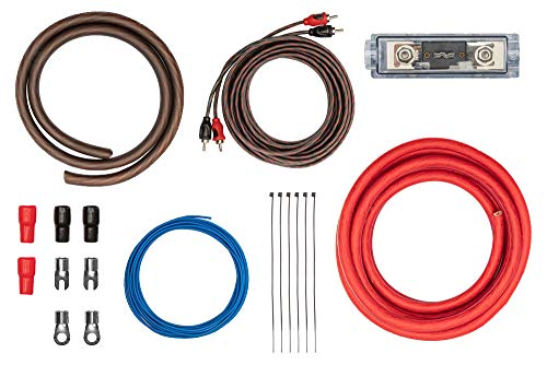 Kabelkit 35mm² fertig konfektioniert - Auto Verstärker Anschluss-Set – mit Powerkabeln, Cinchkabel, Sicherungshalter, Sicherungen – Installations Kit für Endstufen