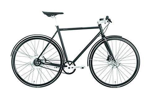 Cooper E-Bike (Pedelec, Elektrofahrrad mit Riemenantrieb, vollintegrierter 250W Hinterradnabenmotor, 160Wh Akku-Leistung, Energierückgewinnung während der Fahrt , Rahmenhöhe 57 cm) schwarz