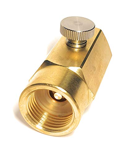 CO2 Adapter Kompatible mit Wassersprudler BZW. Club Zylinder, Soda zum selber nach füllen von CO2 Gas in 425g kompatible Zylinder, Gewinde W21.8-14 mit Deutsche Bedienungsanleitung Gebrauchsanleitung