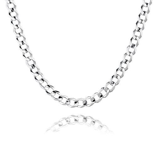 STERLL Herren Hals-Kette Silber 925 55 cm Ohne Anhänger Schmucketui Geschenk für Männer