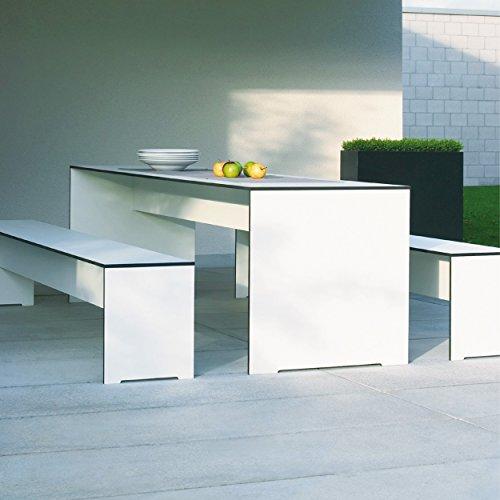 Riva Bank 176 cm ohne Lehne – weiß - 4