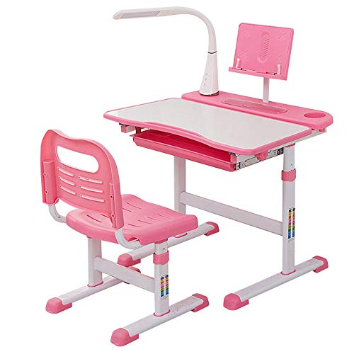 Affordable Quisilife High Chair, Desk Chair Set Multi-Functional Desk and Chair Set with LED Lamp Ch...