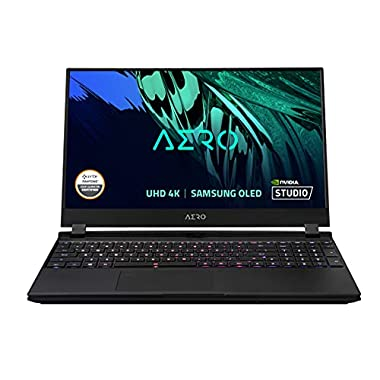 GIGABYTE AERO 15 OLED YD – 15.6″ UHD 4k AMOLED IPS, Intel Core i7, NVIDIA GeForce RTX 3080 Laptop GPU 8GB GDDR6, 16GB RAM, 1TB SSD, Win10 Pro, Creator Laptop (AERO 15 OLED YD-73US624SP)