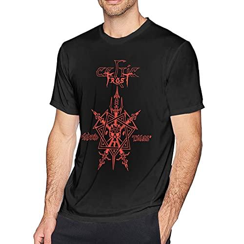 CelticFrost Logo T Shirt Men Short Sleeves Shirt Graphic 3D Print T-Shirts Top Black