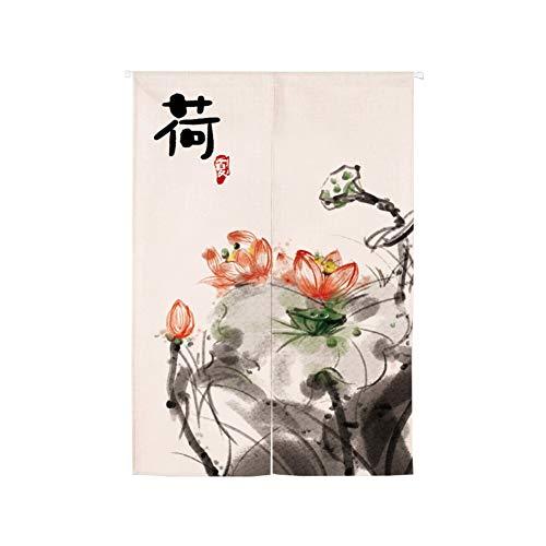 Japanse Noren deuropening gordijn, opknoping wandtapijt deur gordijn paneel kamer scheidingswand, katoenen linnen tapijt voor huisdecoratie 60x90cm(24x35inch) Ik